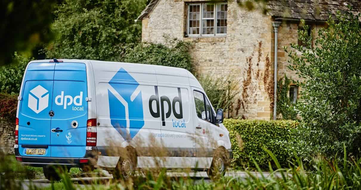 A DPD local van with branding