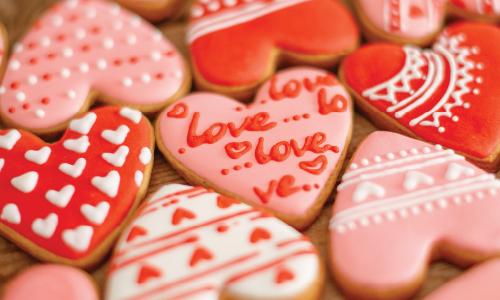Valentines biscuits.