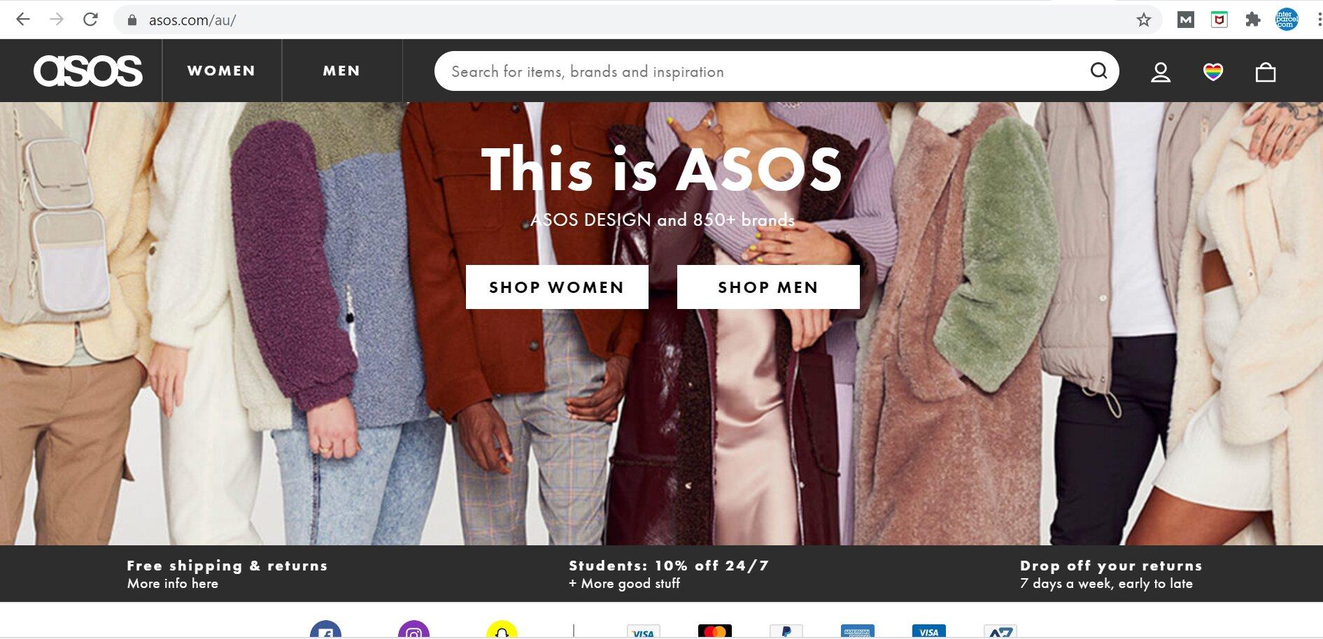 ASOS Free Shipping