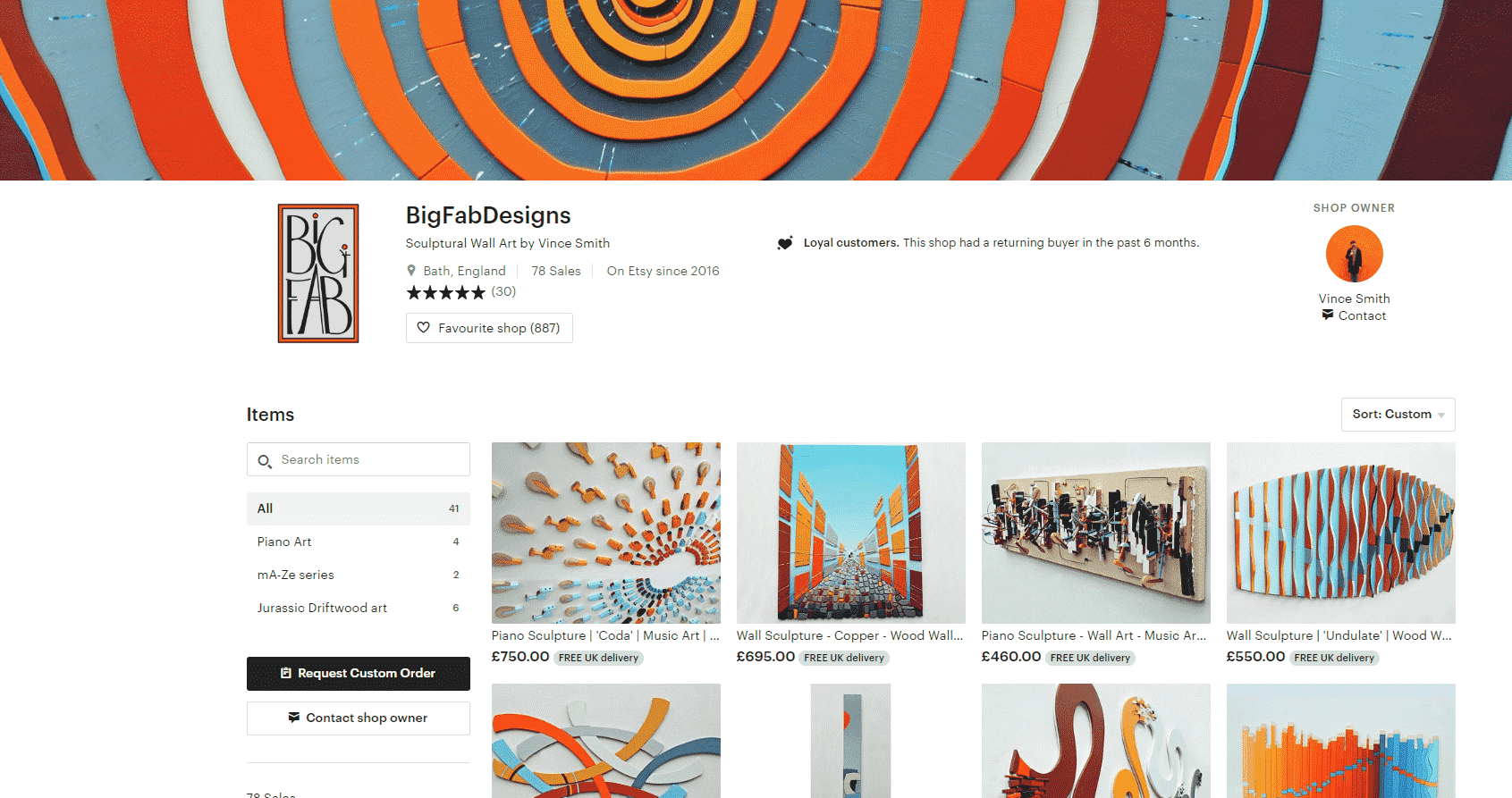 Etsy-webpage
