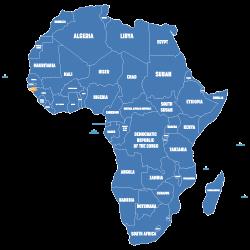 Map of Guinea-Bissau