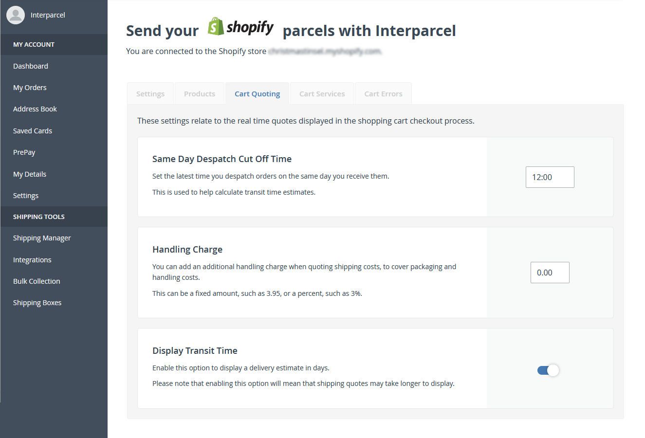 Custom Shopify Settings
