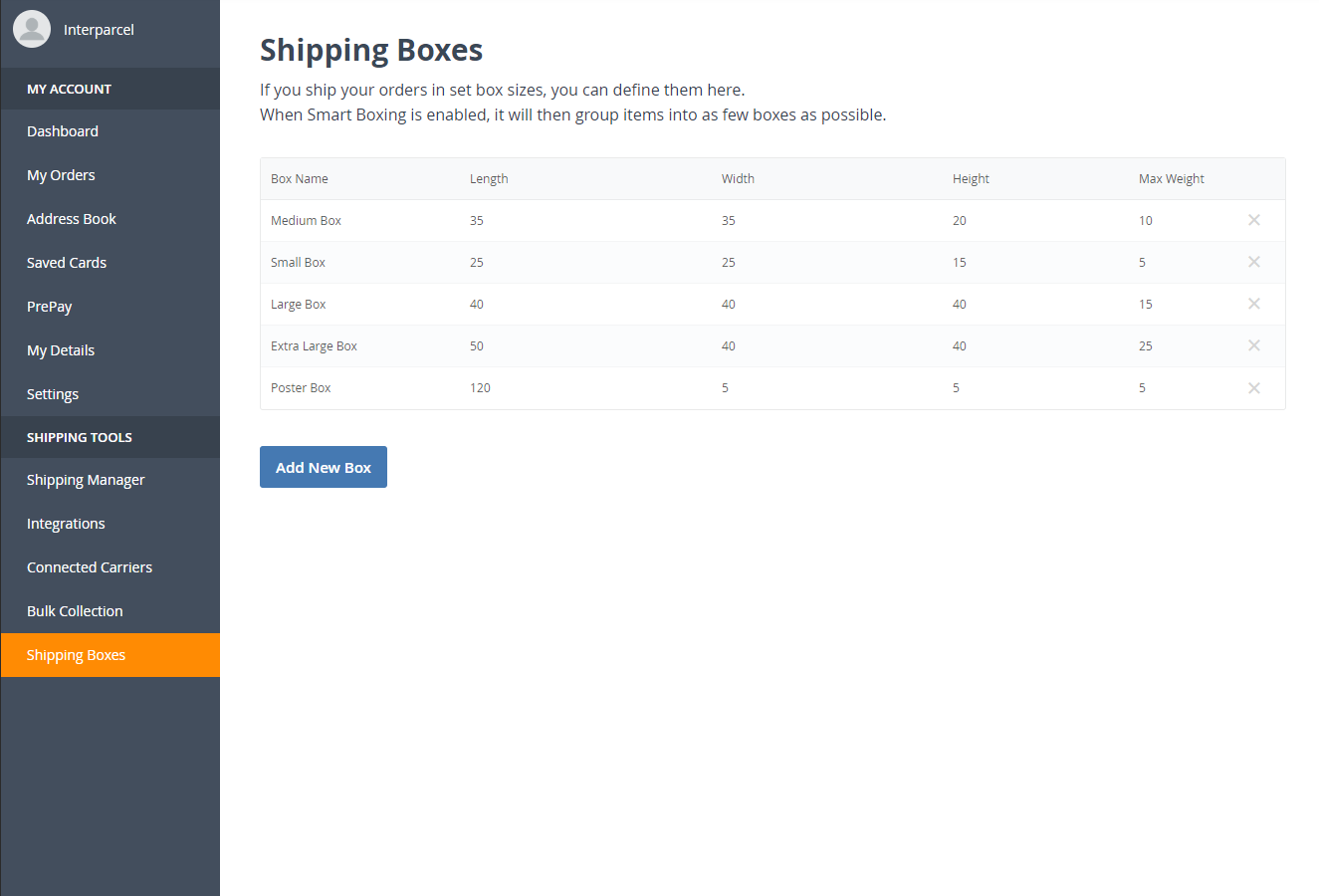 Smart Boxing for Shopify